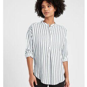 BANANA REPUBLIC Tencel Tunic Top Stripe M